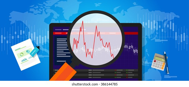 volatile market stock volatility down crash trend price investment index fluctuation