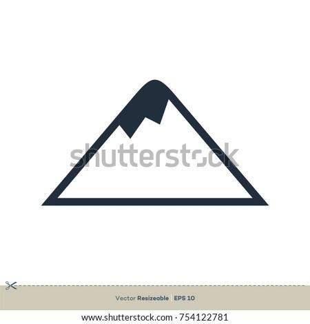 Volcano icon vector logo template stock vector royalty free volcano icon vector logo template maxwellsz