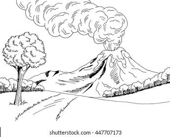 Volcano Drawing Images Stock Photos Vectors Shutterstock