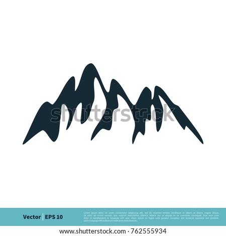 Volcano mountain icon vector logo template stock vector royalty volcano mountain icon vector logo template maxwellsz