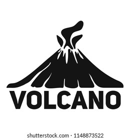 Volcano mountain logo. Simple illustration of volcano mountain vector logo for web design isolated on white background