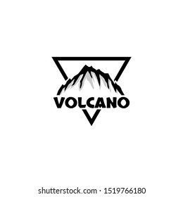 volcano mountain logo. symbol and icon of volcano mountain