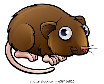 A vole or brown mouse cartoon character