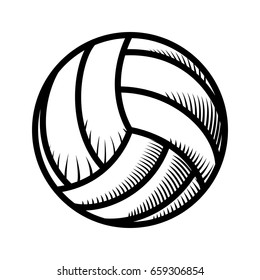 Voleyball ball isolated