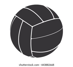 Voleyball ball isolated on white background.Vector illustration