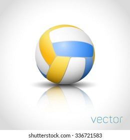 Voleyball ball isolated. Vector illustration