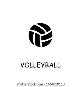 Voleyball flat vector icon. Hand drawn style design illustrations.