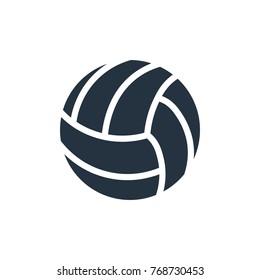 voleyball icon on white background, fitness, sport
