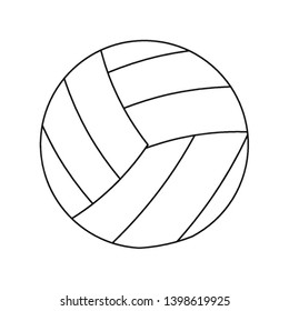Voleyball sport ball cartoon in black and white