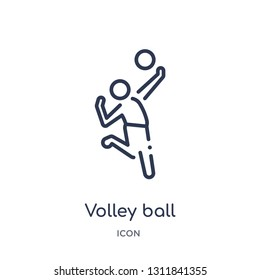 volley ball icon from people outline collection. Thin line volley ball icon isolated on white background.