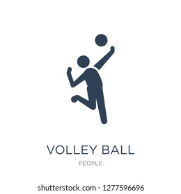 volley ball icon vector on white background, volley ball trendy filled icons from People collection, volley ball vector illustration