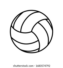 Volley ball icon vector sign and symbol isolated on white background.