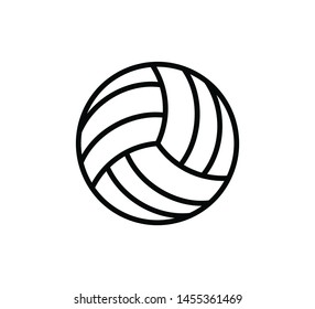 Volley ball icon vector style trendy