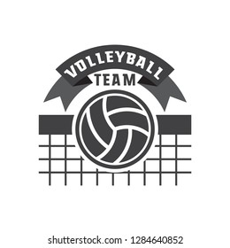 volley ball logo isolated on white background. vector illustration