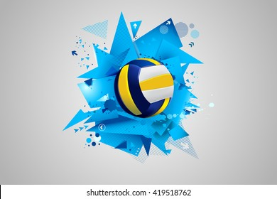 Volleyball abstract