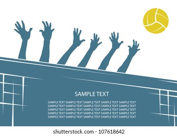 Volleyball background - vector illustration