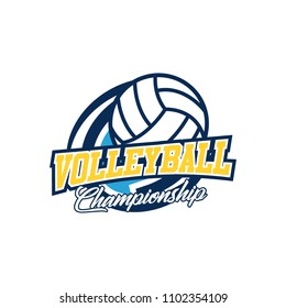 Volleyball badge design logo emblem. Sport emblem insignia template on a light background