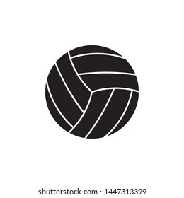 volleyball ball flat line icon on white background. simple vector logo art for tournament illustration and sport apps. eps 10