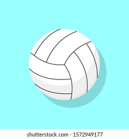 Volleyball ball. Ball for game in volleyball. Vector illustration