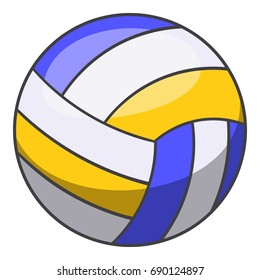 Volleyball ball icon. Cartoon illustration of volleyball ball vector icon for web design