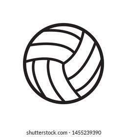 volleyball ball icon design template vector
