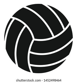 Volleyball ball icon. Simple illustration of volleyball ball vector icon for web design isolated on white background