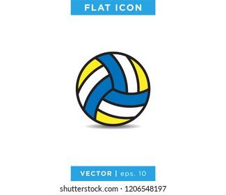 Volleyball Ball Icon Vector Logo Design Template.
