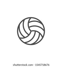 Volleyball ball line outline icon
