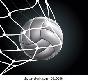 Volleyball Ball Set 3 Vector Drawing