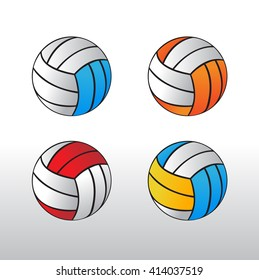 volleyball ball | Volleyball sign icon set | Vector volleyball icons | multi color volley balls