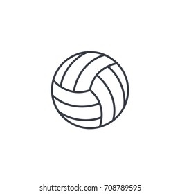 volleyball ball thin line icon. Linear vector illustration. Pictogram isolated on white background