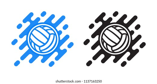 Volleyball ball vector icon isolated on white. Water polo ball vector icon