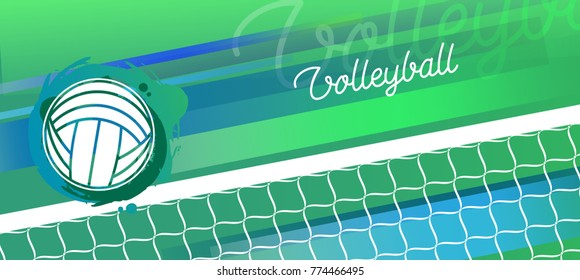 Background Abstract Volleyball Blue Yellow Ball Frame: Volleyball Background Images, Stock Photos & Vectors