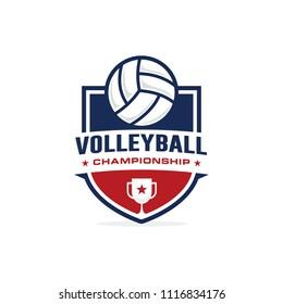 Volleyball championship logo