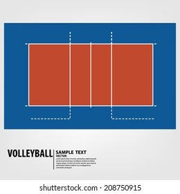 volleyball court - Vector illustration