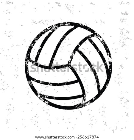 Volleyball Design On Old Papergrunge Vector Stock Vector Royalty
