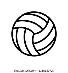 Volleyball icon, Volleyball logo isolated in white and black
