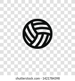 volleyball icon from miscellaneous collection for mobile concept and web apps icon. Transparent outline, thin line volleyball icon for website design and mobile, app development