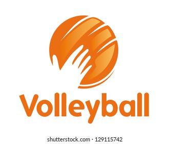 Volleyball icon. Sport symbol.
