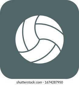 Volleyball icon. Volleyball symbol. Vector illustration