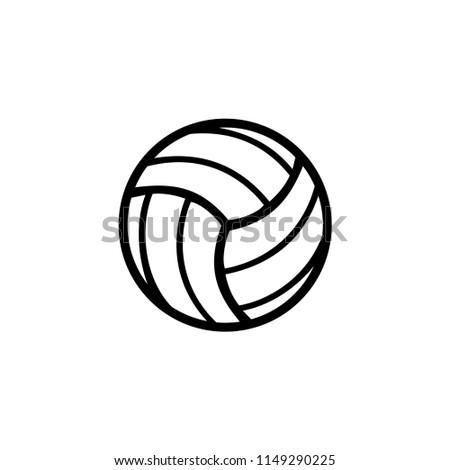 Volleyball Template | Volleyball Icon Template Stock Vektorgrafik Lizenzfrei 1149290225