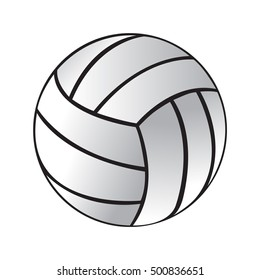 volleyball icon vector eps jpg flat app web