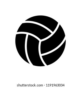 Volleyball icon vector logo template