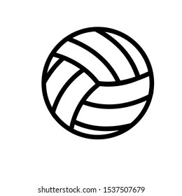 Volleyball icon vector. Volleyball tournament. Volleyball match