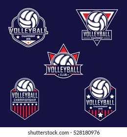 Volleyball logo, America logo