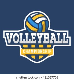 Volleyball logo. American Style.