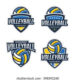 Volleyball Logo Badge, American Logo Sport