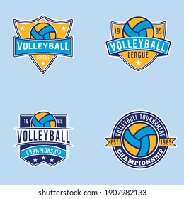 Volleyball Logo Badges This design is fully vector and editable.