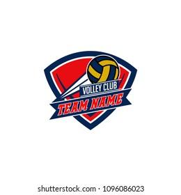 Volleyball logo, emblem  templates