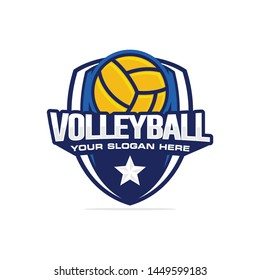 Volleyball logo template vector illustration